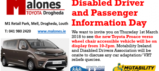 Disabled Driver and Passenger Information Day